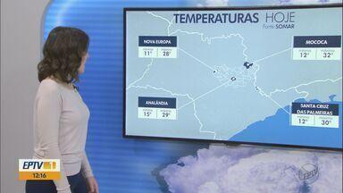 Confira a previsão de tempo para esta quarta-feira (15) - Confira a previsão de tempo para esta quarta-feira (15)