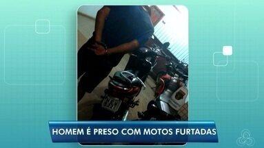 BPRE prendeu esta madrugada um homem com duas motos furtadas, no AP - Policia suspeita que os veículos seriam levados para a região das ilhas do Pará