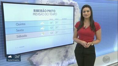 Temperatura cai nesta quinta-feira (16) na região de Ribeirão Preto - Há possibilidade de pancadas de chuva em pontos isolados.