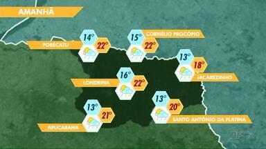 Tempo deve ficar instável nesta quinta-feira (16) em Londrina - Para os próximos dias a previsão é de que o calor aumente.