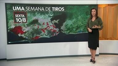 Violência no Rio está espalhada em todas as regiões - Só ontem, pelos menos 12 bairros registraram tiroteios