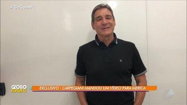 """Além da Bola: ex-jogadores """"Merica"""" e """"Dendê"""" são homenageados no Intermunicipal - Carpegiani enviou um vídeo para """"Merica"""". Confira."""
