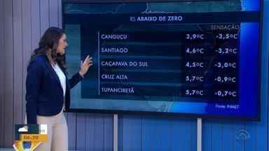 Tempo: cidades gaúchas registram sensação térmica negativa nesta segunda-feira (20) - Veja como fica a previsão.