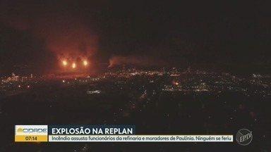 Incêndio atinge a refinaria de Petrobras, em Paulínia - Não há informação de feridos. As chamas foram controladas.
