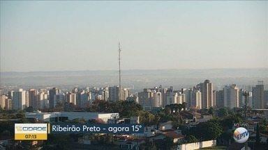 Confira a previsão do tempo para esta segunda-feira (20) em Ribeirão Preto - Temperatura máxima chega a 28°C.