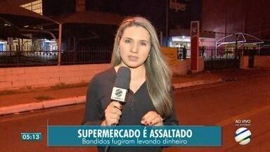 Rede de supermercado é assaltada duas vezes em quinze dias - Rede de supermercado é assaltada duas vezes em quinze dias
