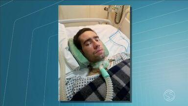 RJTV mostra drama de jovem de Volta Redonda, RJ, que contraiu febre amarela - Ele precisa de aparelhos para continuar vivendo fora de um hospital.