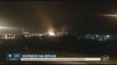 Explosões em refinaria da Petrobrás assustam funcionários e causam tremores em Paulínia - Segundo o Corpo de Bombeiros, fogo foi controlado e não há feridos. A produção foi paralisada.