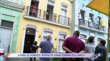 Confira os bastidores do barraco de Doralice com Ionan - Personagem de Roberta Rodrigues ficou transtornada ao descobrir que o marido é o pai do filho de Maura em 'Segundo Sol'