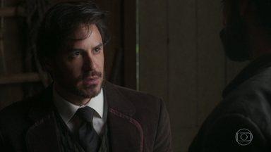 Virgílio socorre Xavier - Xavier promete se vingar de Brandão, mas decide ir ao encontro de Lady Margareth antes de mais nada