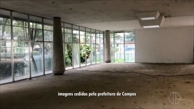 Obras do Palácio da Cultura serão retomadas em Campos, no RJ - Assista a seguir.