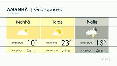 Previsão de pancadas de chuva para a região de Guarapuava - Deve chover também em outras cidades da região.