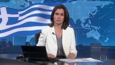 Termina plano de resgate financeiro para ajudar o governo Grego - Durante 8 ano, a Europa e o FMI emprestar,m 289 bilhões de euros para ajudar o país a sair da crise financeira que encolheu a economia nacional.