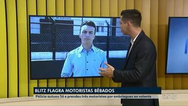 Polícia autuou 56 e prendeu três motoristas por embriaguez ao volante em Ponta Grossa - Duas blitze foram feitas na cidade no final de semana.