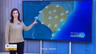 Tempo: quarta-feira (23) terá predomínio de sol entre nuvens - Veja como fica a previsão.
