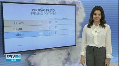 Confira a previsão do tempo para quinta-feira (23) na região de Ribeirão Preto - Pancadas de chuva em pontos isolados não estão descartadas.