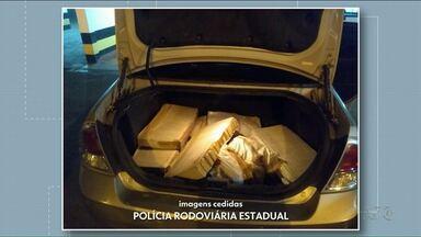 Motorista foge de abordagem e abandona veículo em movimento - No carro a PRF apreendeu 71 kg de maconha.