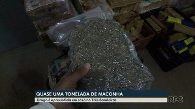 Polícia apreende quase uma tonelada de maconha em uma casa de Foz - A ocorrência foi no bairro Três Bandeiras