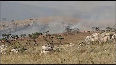 Incêndio no Parque Nacional da Serra da Canastra destruiu 10 mil hectares - Combate às chamas entrou no quarto dia