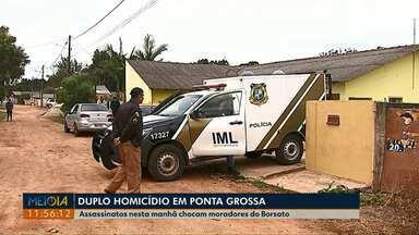 Dois homens são mortos e outros dois baleados em Ponta Grossa - Crime foi no Núcleo Borsato.
