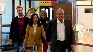 Candidato do PSDB, Geraldo Alckmin, faz campanha no Rio Grande do Sul - Jornal Nacional mostra como foram as atividades de campanha de candidatos à presidência nesta segunda (27).