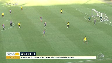 Atacante Bruno Gomes deixa o Vitória antes de estrear - Veja os destaques do rubro nego baiano.