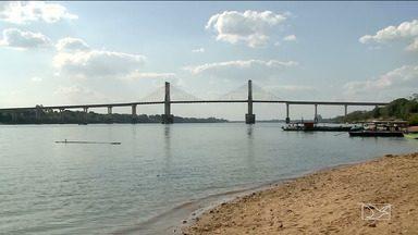 Nível do Rio Tocantins começa a subir na região sul do Maranhão - A Defesa Civil alerta que os bancos de areia que formam as praias ao longo do Rio vão desaparecer.