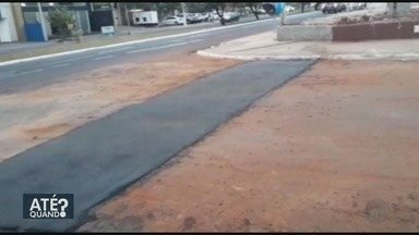 Daerp realiza recapeamento após conserto na rede de esgoto em Ribeirão Preto - Problema na Avenida Independência foi destaque no 'Até Quando?'.