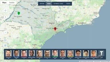 Confira onde candidatos ao governo de SP fizeram campanha na manhã nesta quinta-feira - EPTV acompanha agenda de campanha dos candidatos ao governo.