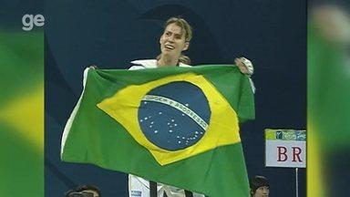 Natália Falavigna conquista o bronze nas Olimpíadas de Pequim, em 2008 - Veja os instantes finais da luta e a comemoração da brasileira, primeira medalhista olímpica no taekwondo brasileiro
