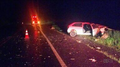 Uma pessoa morre em acidente na BR-373, em Chopinzinho - Outras três pessoas ficaram feridas.