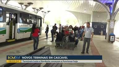 Novos terminais começam a funcionar em Cascavel - A mudança atende um pedido antigo da comunidade.