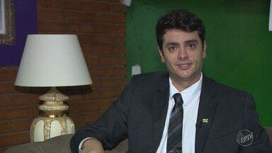 'Eleições 2018': EPTV 1 entrevista Rodrigo Tavares (PRTB), candidato ao governo estadual - Confira entrevista completa com candidato.