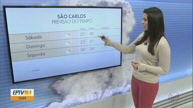 Confira a previsão do tempo para o fim de semana na região. - Tempo permanecerá quente nos próximos dias.