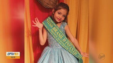 Menina de 8 anos de Itirapina vence Miss Brasil 2018 - Laura Lunardi ganhou o direito de participar em outubro dos concursos de beleza internacionais em Curitiba (PR).
