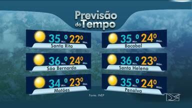 Veja as variações das temperaturas no Maranhão - Previsão do tempo para esta segunda-feira (3) será de dia de sol entre nuvens na maioria das cidades maranhenses.