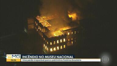 Incêndio no Museu Nacional é perda irreparável para patrimônio histórico brasileiro - Local abrigava 20 milhões de itens, inclusive o crânio de Luzia descoberto na Região Metropolitana de Belo Horizonte.