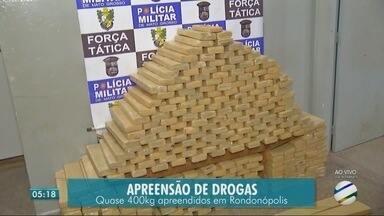 Quase 400 kg de drogas apreendidos em Rondonópolis - Quase 400 kg de drogas apreendidos em Rondonópolis