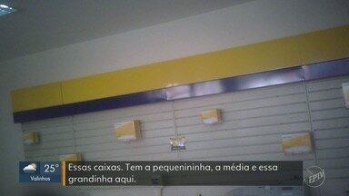 Agências dos Correios em Campinas continuam com falta de embalagens - Empresa havia garantido que até o final de agosto a situação estaria totalmente resolvida.