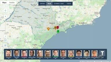 Confira onde candidatos ao governo de SP fizeram campanha na manhã desta segunda-feira (3) - EPTV acompanha agenda de campanha dos candidatos ao governo.