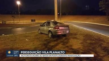Perseguição na Vila Planalto acaba em morte - Motorista bate em poste depois de fugir da polícia.