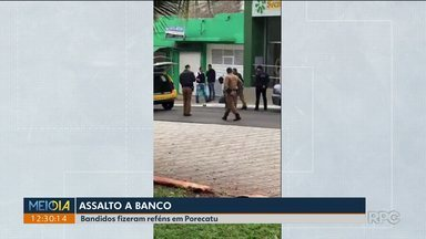 Bandidos fazem reféns durante assalto a banco - Ação foi em Porecatu.
