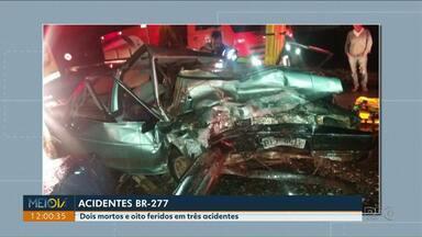 Fim de semana de acidentes na BR-277 - Duas pessoas morreram e oito ficaram feridas.