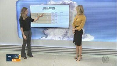 Confira a previsão do tempo para segunda-feira (3) em Ribeirão Preto - Há chance de pancadas de chuva isoladas.