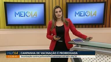 Campanha de vacinação contra pólio e sarampo é prorrogada em Maringá - A Secretaria de Saúde quer atingir cobertura de 100 por cento na cidade.