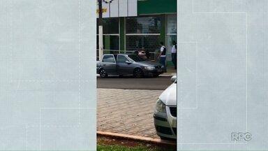 Bandidos assaltam agência bancária e fazem clientes reféns em Porecatu - Ninguém se feriu no assalto