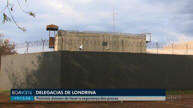 Polícia Civil deixa de fazer guarda de presos em delegacias de Londrina - A medida ocorreu após um acordo com o Depen, os policiais voltam a desempenhar as funções administrativas.