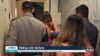 Professora condenada por matar bebê é presa pela segunda vez em Goiás - Ela foi condenada por matar o próprio filho e manter corpo escondido no escaninho do prédio.