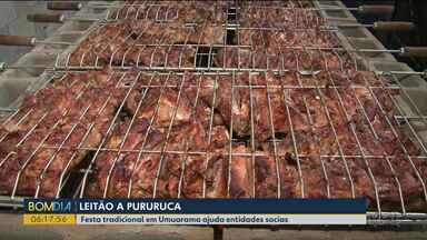 Festa em Umuarama ajuda entidades sociais - O principal prato era o leitão à pururuca.