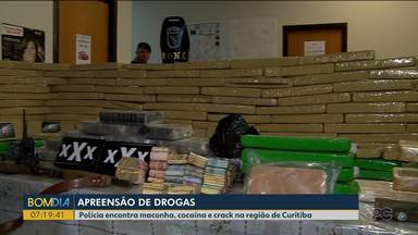 Polícia encontra maconha, cocaína e crack na região de Curitiba - As apreensões aconteceram no bairro Alto Boqueirão, em Curitiba, e em Colombo.